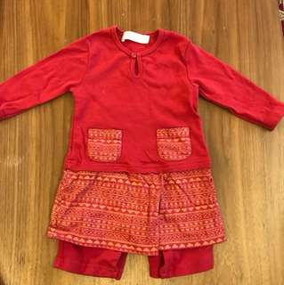Kids Red Baju Melayu