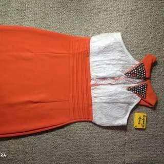 Dress Elegant Orange