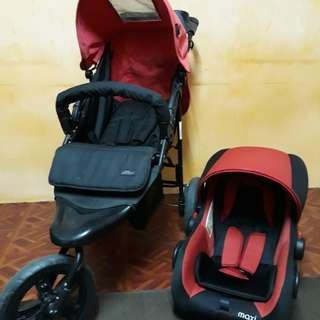 Stroller, Seat car & Musical clip on Baby