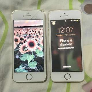 2 iphone 5s 16gb gold factory unlocked for sale