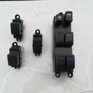 Nissan Sentral Power Wdw Switches. RM120/set. Call/pm me 0182277633 if interested.