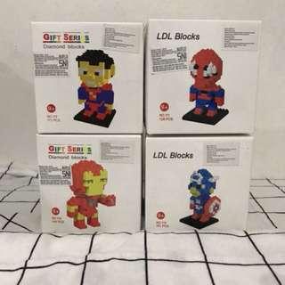 Avenger (Iron Man - Spiderman - Captain America - Spiderman ) Lego Action Figure