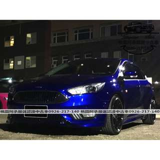 【FB搜尋桃園阿承】福特 超人氣FOCUS 2016年 2.0 藍色 二手車 中古車