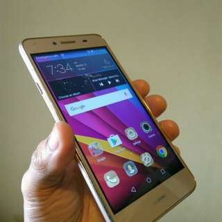 Huawei Y5ii - Dual - LTE - Gold - Complete Set - Front Camera with FLASH
