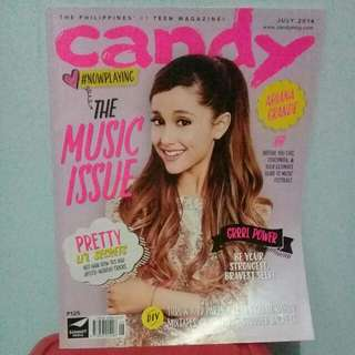 Ariana GRANDE CANDY MAGAZINE JULY 2014 ISSUE