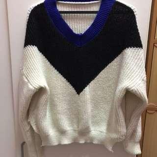 Winter knitted sweatshirt