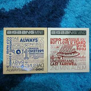 BIGBANG FIRST AND SECOND MINI ALBUM (ALWAYS/HOT ISSUE)