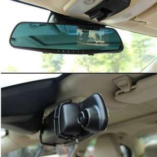 Rear View Mirror DVR Camera For Car/Lorry/Van/Bus