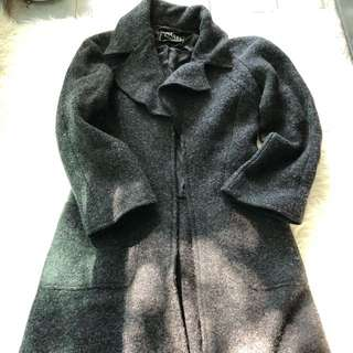 Chanel Grey Wool maxi coat sz 40