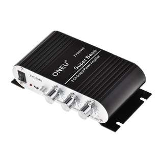 ONEU Mini amplifier Super Bass Hi-Fi Stereo Audio Amp Booster for Car Moto Home -- 548