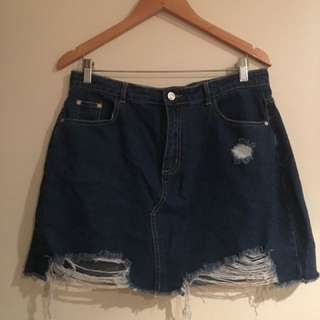 Misguided denim skirt
