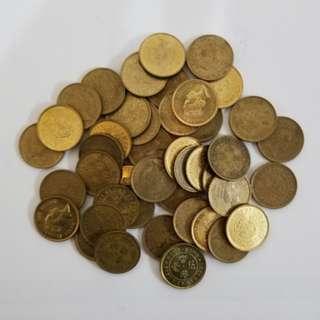 1990年 5毫硬幣 (有45個) (請註明買幾多個) (隨機賣出)
