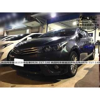 【FB搜尋桃園阿承】豐田 超人氣ALTIS 2016年 1.8 灰色 二手車 中古車