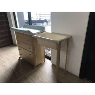 Baby cabinet and changing station