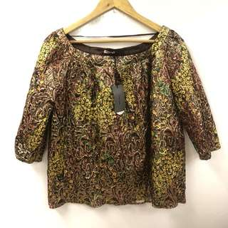 Miu Miu gold with colors flowers top size 44