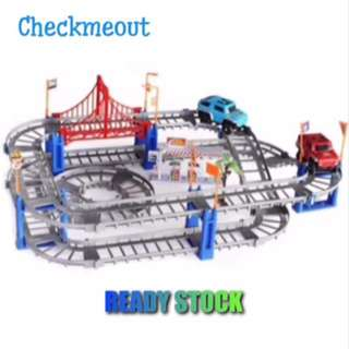 🌈READY STOCK🌈67pcs Customize Highway Electronic Car Track Full Set