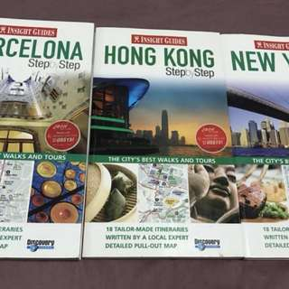 Guide books - barcelona, new york, hong kong