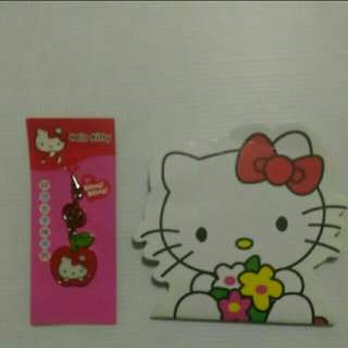 Hello Kitty 鋅合金手機吊飾(贈小本子)