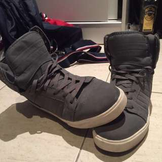 Supra Grey Hi Tops