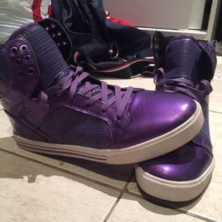 Supra Purple Hi Tops