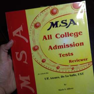 MSA All College Admission Tests Reviewer