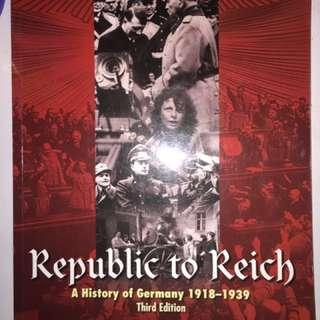 Republic to Reich 1918-1929