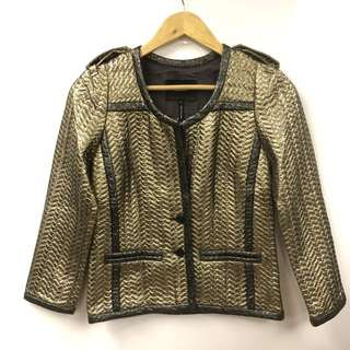 Isabel Marant metallic gold cardigan size 36