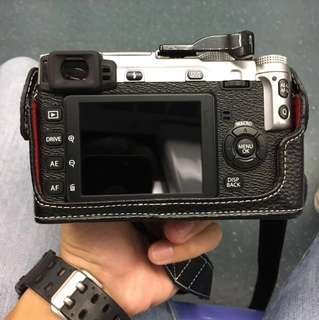 FUJI XE-1 with lens and half leather case