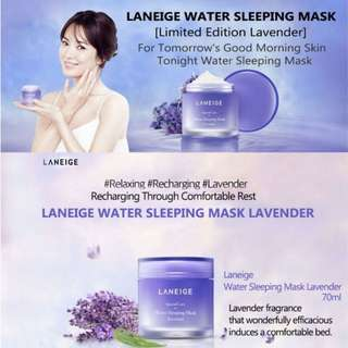 Laneige Lavender Water Sleeping Mask (limited edition)