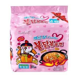 代購 韓國限量版白汁芝士味辣雞麵 (4包裝)