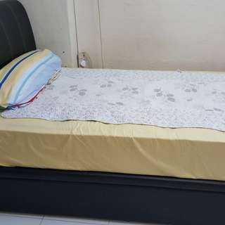 Super single size bed and bed frame