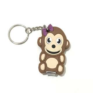 Monkey Nail Clipper Keychain