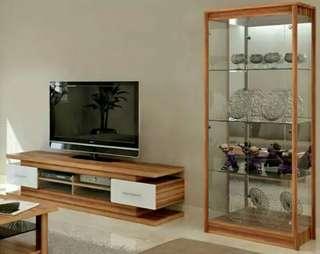 LEMARI HIAS & MEJA TV MINIMALIS