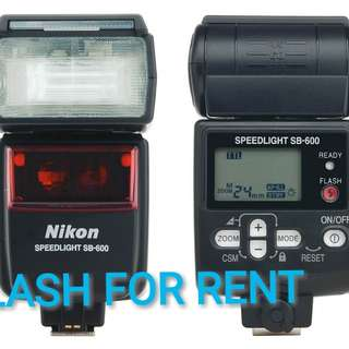 FOR RENT - NIKON SB600 TTL FLASH