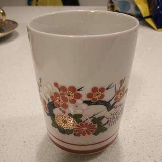 Oriental design cup
