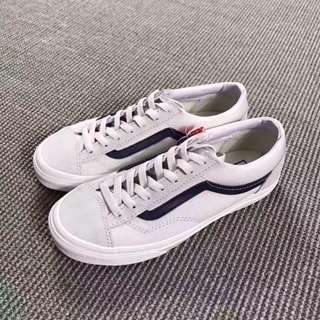 Vans style36 米白 深藍線條 滑板鞋