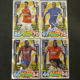 最新 17/18 Match Attax POWERHOUSE