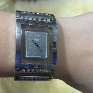 Swatch Ladies Brilliant Bangle Watch