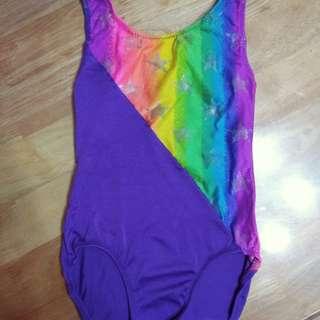 Kids purple rainbow swimsuit.  Repriced