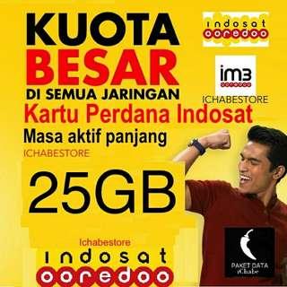 Perdana indosat internet 25gb