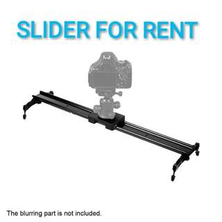 FOR RENT - 80CM DSLR SLIDER