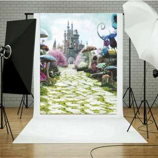 Photography Background Fabric Castle Wall Photo Studio Props Backdrop Family Decor