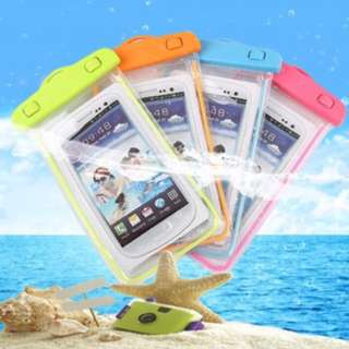 Waterproof mobile cover pocket