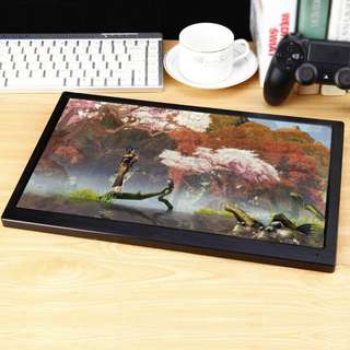 KKmoon Ultra Slim Portable IPS LCD Gaming Monitor with HDMI USB Ports Foot Stand Support 1080 Resolution USB Powered