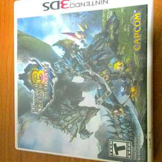 Nintendo 3DS monster hunter game