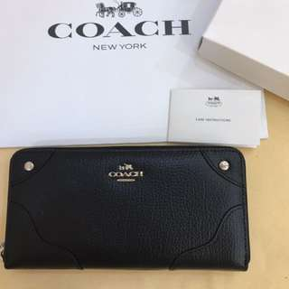 Authentic Coach women long wallet purse pouch coin bag