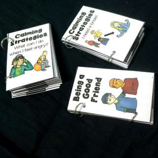 DIY Interactive Books: 2 Calming Stategies + 1 Being Good Friend(bundle)
