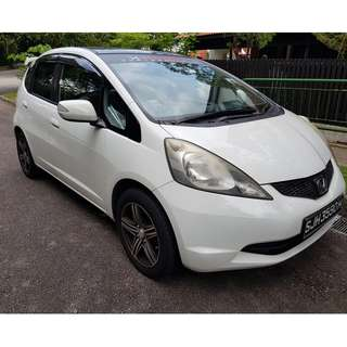 Cheapest Honda Fit / Jazz for rental Uber & Grab with sky roof