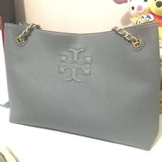 Tory Burch leather bag Grey
