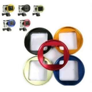 🚚 GoPro HERO3 3+ CNC金屬 52mm 相機 濾鏡 轉接環 顏色隨機